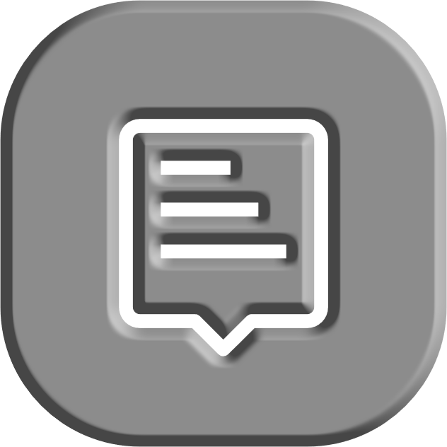 grey bevelled icon of a document with text